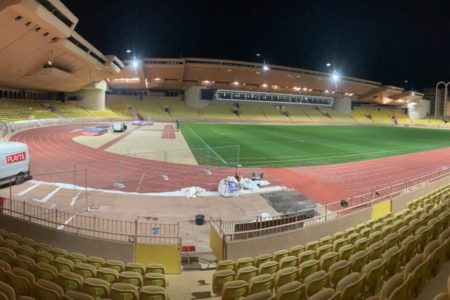 Réparation piste d'athlétisme Stade Louis II - Monaco